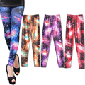 2016 New Fashion Womens Starry Sky Digital Print Leggings Pants Ladies Stretchy Cartoon Pattern Trousers H9
