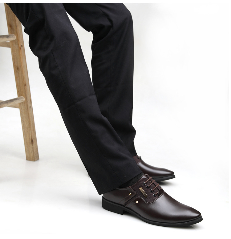 NPEZKGC Men Dress Shoes Slip-on Black Oxford Shoes For Men Flats Leather Fashion Men Shoes Breathable Comfortable Zapatos Hombre 6