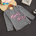 Girls fall clothing striped baby boy sweatshirts autumn Letter printed casual child clothes sweatshirt 90-130 1-7 Years  N8012