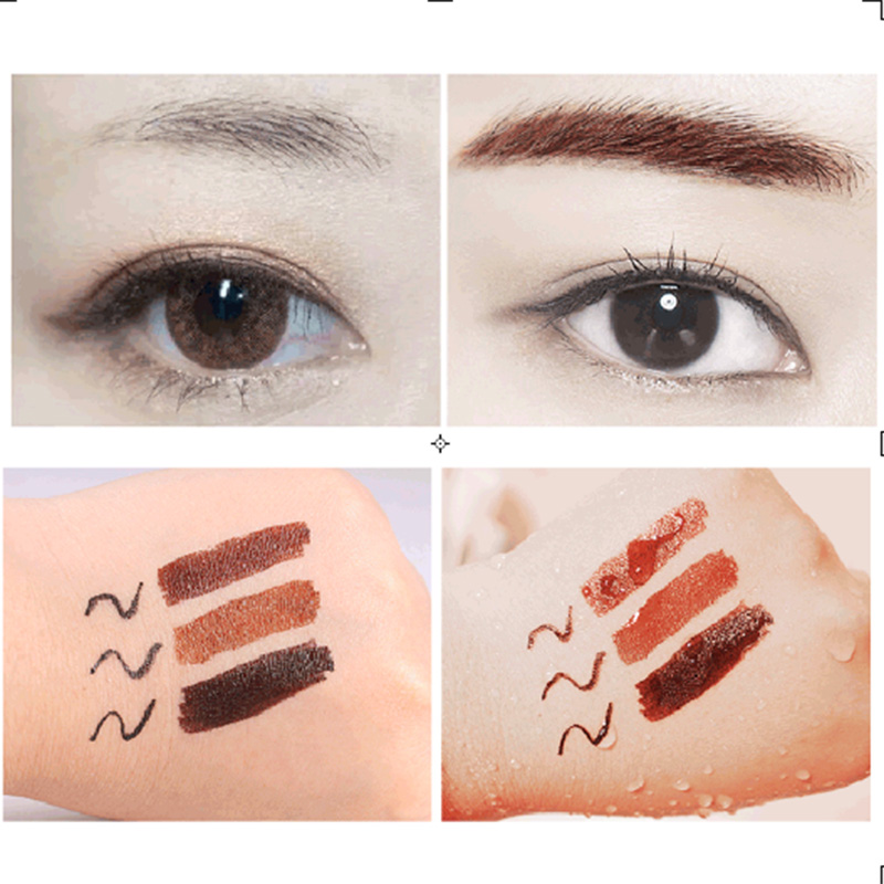 High Quality Natural 2 in 1 Waterproof Long-lasting Eyebrow Eyeliner Liquid Eyebrow Pen Pencil Makeup Cosmetic Tools