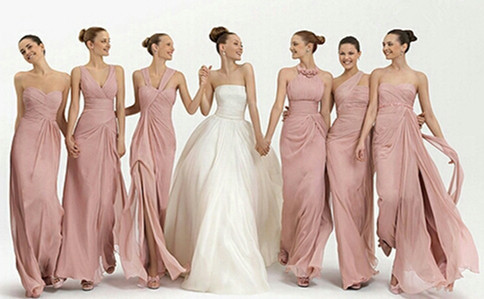 c0f58451555d 2017 New Arrival High Quality Long Slim Pink Chiffon Bridesmaid Dress Women Greek  Style Six Style Custom made