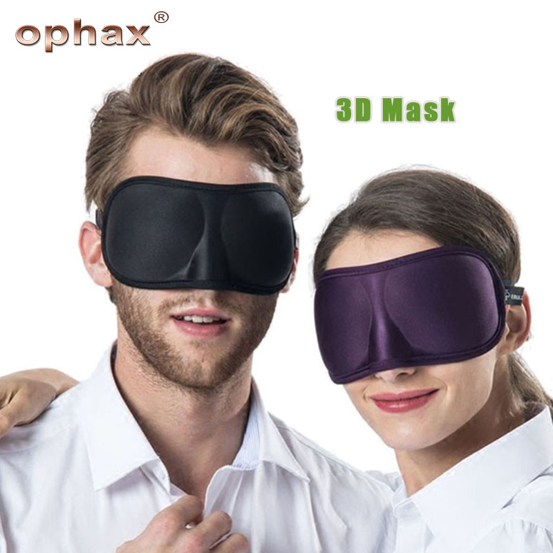 OPHAX 3D Sleep Mask Ultra-soft Breathable Fabric Eyeshade Sleeping Eye Mask Portable Travel Sleep Rest Aid Eye Patch Relaxation tryptophan 99% l tryptophan 100pieces bottle support relaxation promote result sleep aid support positive mood free shipping
