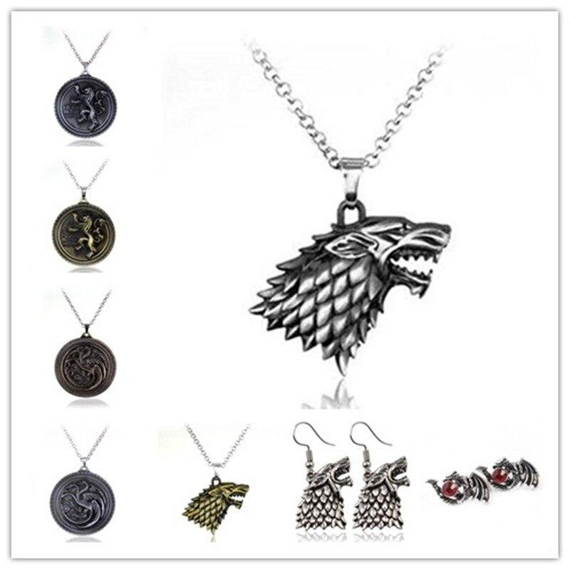 Vægt 40g Game of Thrones Stark Familie Goshawk Head Badge Wolf Chain - Mode smykker - Foto 2