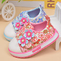 Autumn Kids Baby Shoes For Girls Infant Toddler Shoes Children Breathable Soft Bottom Canvas Shoes With Flowers Casual Sneaker
