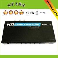 Conversor De Vídeo HD VGA/YPbPr para HDMI Upscaler 720 P/1080 P de Áudio/entrada VGA conversor com Adaptador de alimentação, atacado Frete Grátis