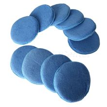New 10X 6inch Car Waxing Polish Soft Microfiber Foam Sponge Applicator Pads Auto Cleaning Detailing For Wash Care