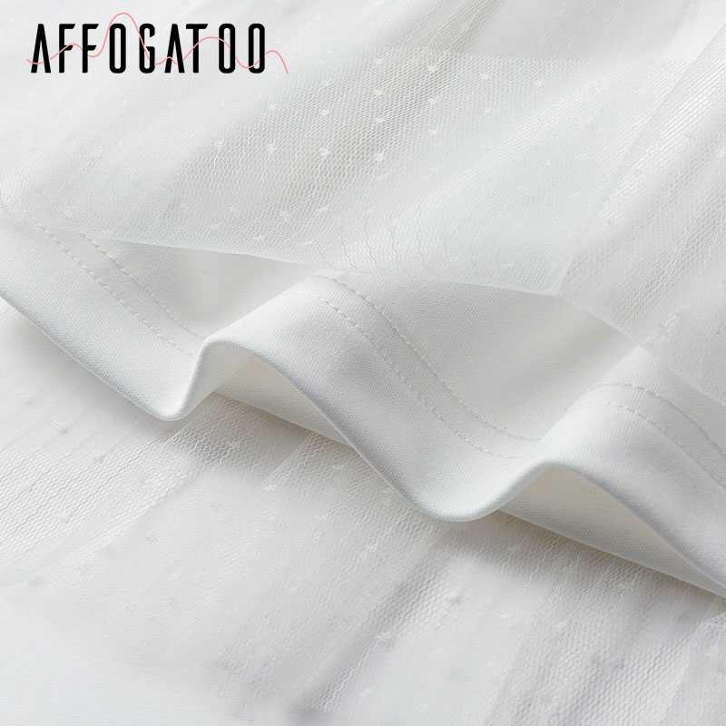 Afogafoo сексуальное элегантное кружевное Сетчатое женское белое платье в горошек летнее облегающее Короткое мини-платье с длинным рукавом винтажные вечерние платья