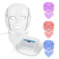 Светодиодный Цветной световая терапия инфракрасных лучей микротоковая маска для ухода за кожей косметический прибор
