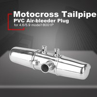 1:8 Oil Truck Exhaust Pipe Motocross Tailpipe PVC Air bleeder Plug Exhaust Silencer Muffler Wash Plug Pipe Protector