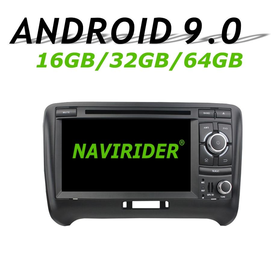 Haute configuration Octa Core Android 9.0 voiture GPS multimédia pour Audi TT 2006-2013 autoradio bluetooth 64 GB grande mémoire
