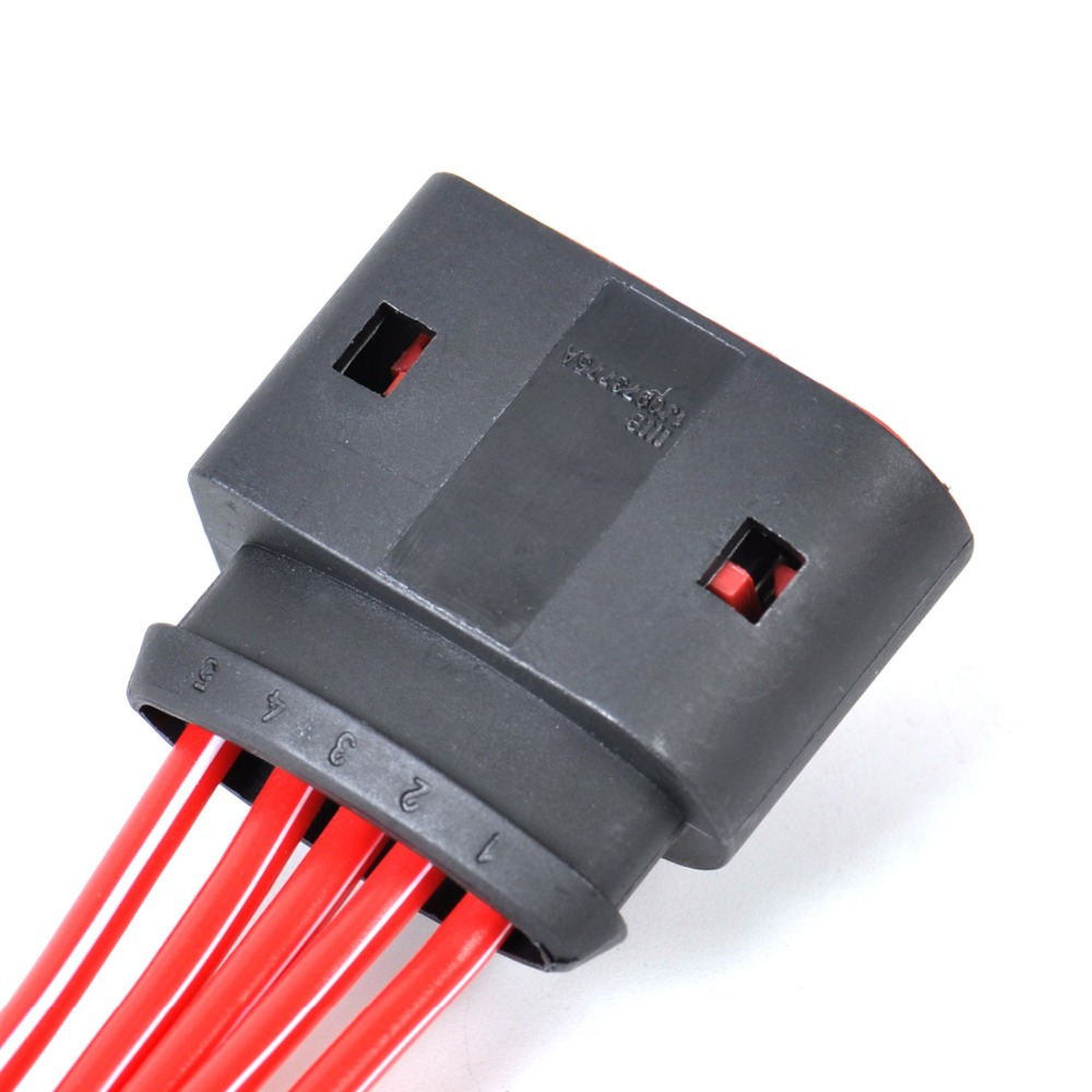 DWCX 1PC New 1J0973775A Mass Air Flow Sensor 5 Pin Connector Plug
