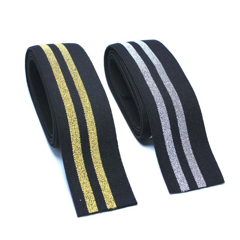 New Arrival Width 4cm Glitter Wide Elastic Band In Gold And Silver /sewing Clothing Accessories / Elastic Band / Rubber Band