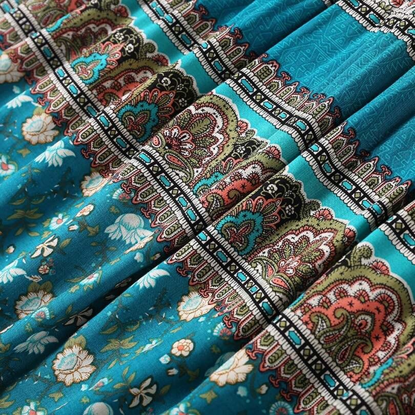 HTB1mU1jmIbI8KJjy1zdq6ze1VXal - Spring NEW Boho Dress Chic Floral Print Mini Dresses V-neck Hippie Women Dresses 2018 Casual Bohemia Brand Clothing XXL with Belt