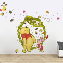 disney winnie pooh wall stickers for kids rooms nursery home decorations cartoon animals wall decals pvc posters diy mural art