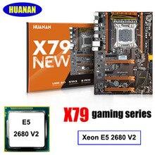 Empfehlen!! HUANAN X79 LGA2011 deluxe gaming motherboard CPU combos set Intel Xeon E5 2680 V2 unterstützung 64G speicher combos