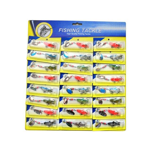 OLOEY 30 قطعة الصيد إغراء ملعقة معدنية اصطناعية سيليكون المتذبذب الصيد سبينر السحر العميق الكارب الطعم الغوص جثم المتذبذب الأسماك
