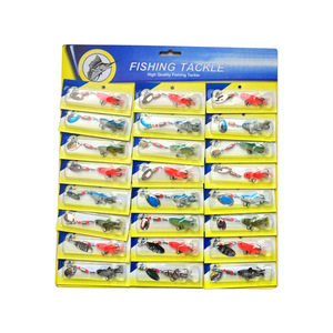 Image 1 - OLOEY 30PCS fishing lure artificial metal spoon silicone wobbler fishing spinner lures deep carp bait diving perch wobbler fish