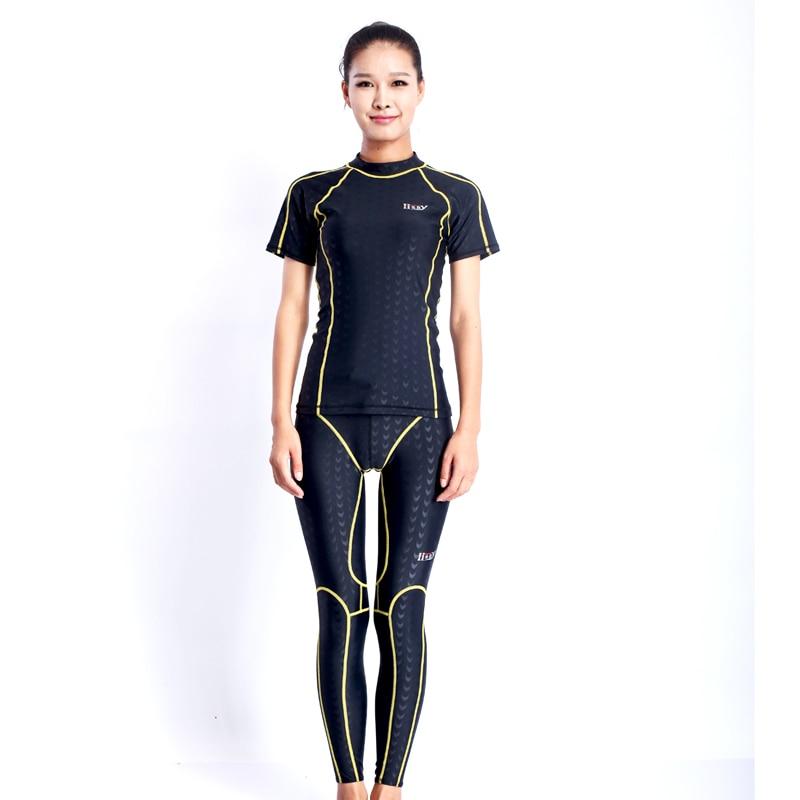 HXBY men swimming tight suit swimwear men full body lycra ...