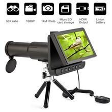 Cámara LCD Digital binoculares monoculares de 5,0 pulgadas, 50x1080P, vídeo, grabadora de fotos, telescopio para ver, tarjeta TF de 8GB gratis
