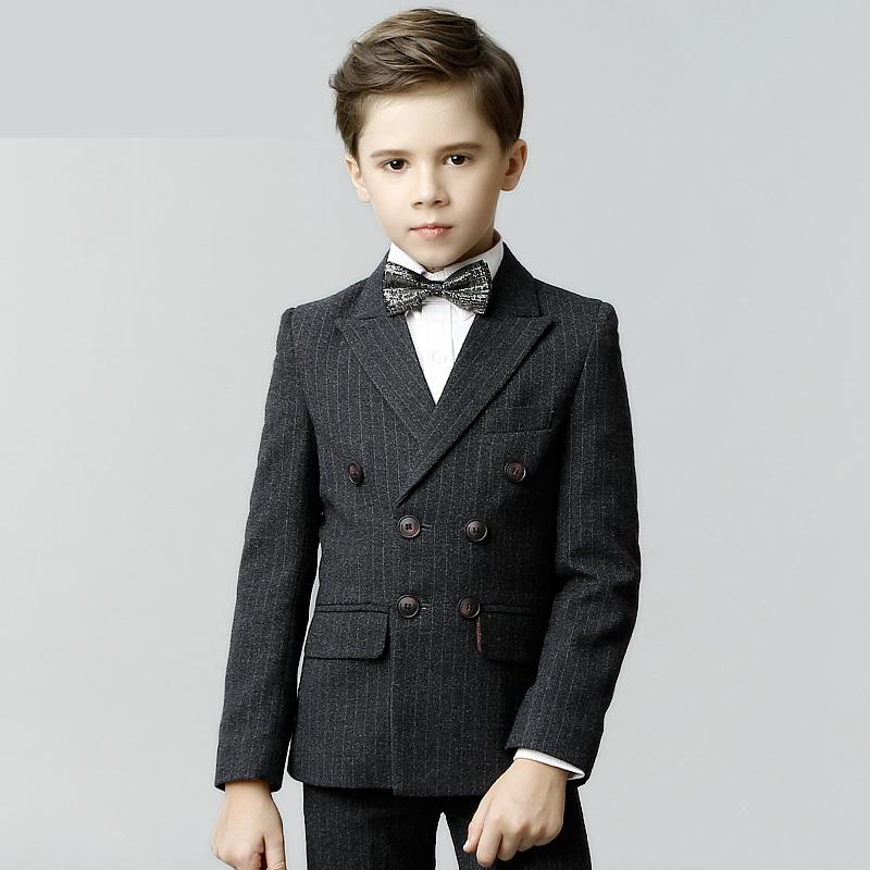 2019 4 pieces spring Suit Thicker Double-breasted Childrens Suit Boys Dress suit Three-piece size 110 120 130 140 150 1602019 4 pieces spring Suit Thicker Double-breasted Childrens Suit Boys Dress suit Three-piece size 110 120 130 140 150 160