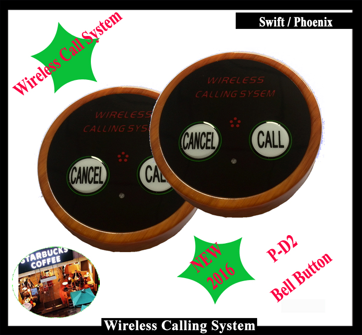 Wireless Restaurant Waiter Call button With adjustable log Installed on Table for Wireless Calling System( One set=10pcs) restaurant wireless table bell system ce passed restaurant made in china good supplier 433 92mhz 2 display 45 call button
