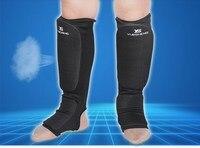Cotone Boxe parastinchi MMA protezioni protezione del piede collo del piede TKD kickboxing Muay Thai Formazione Gamba di sostegno protezioni