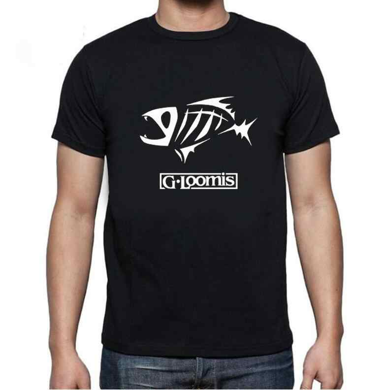 2018 Zomer Heren Shirt Printing O Hals Korte Mouw G. loomis T Shirts Mannen Populaire Gear Man Tees Kleding Camisetas
