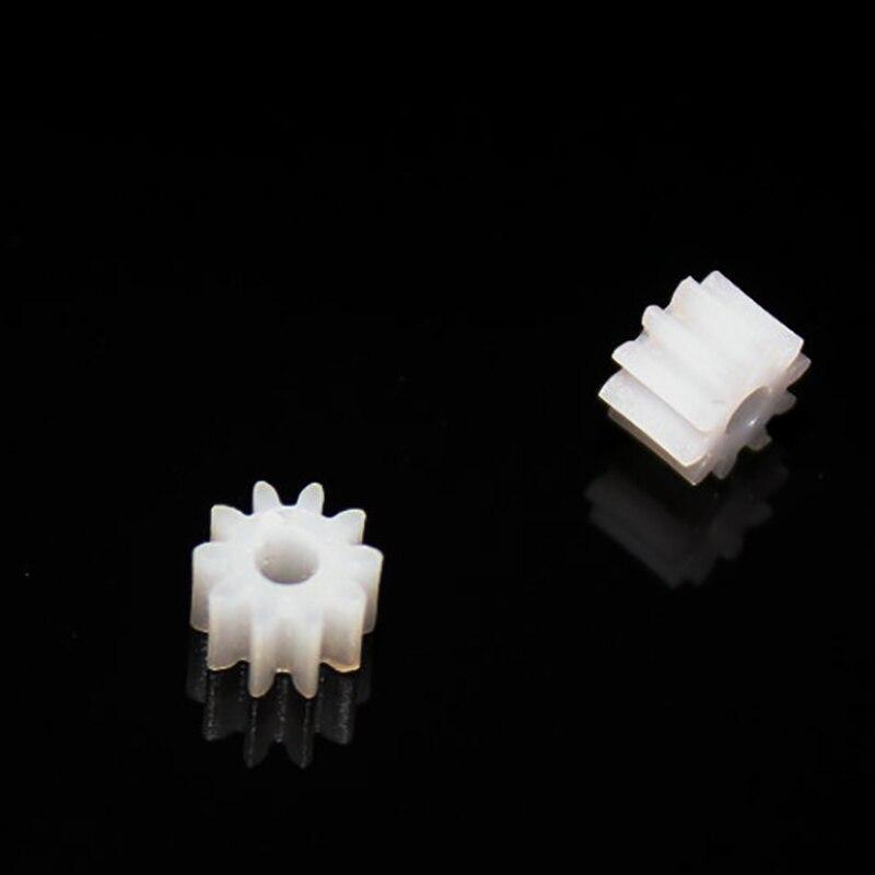 yuanmbm 30pcs 10teeth/hole 2mm/OD6/0.5M/plastic gear/rc car/hot wheel/DIY toys accessories/technology model parts/baby toys/102B