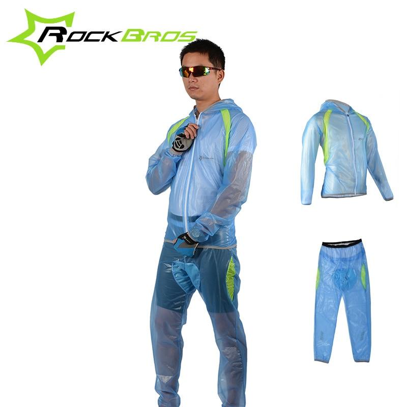 ROCKBROS Cyklistika na kole Cyklistika Transparant s kapucí sada pláštěnky Windproof vodotěsné pánské déšť kabáty obleky Rainproof boty kryt