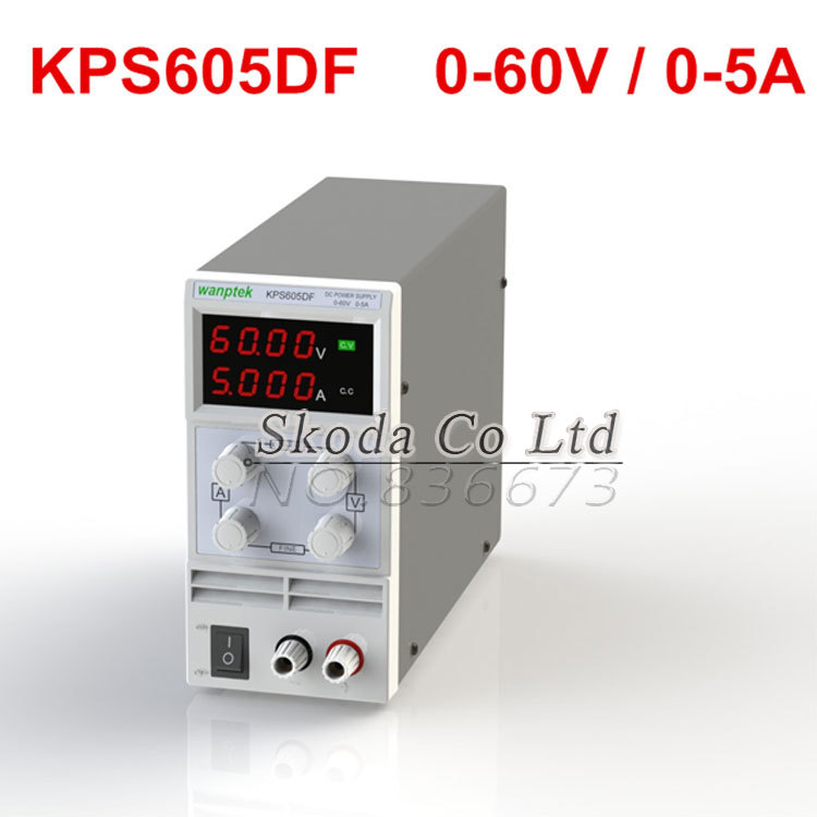 DHL Free KPS-605DF Mini Switching Regulated Adjustable DC Power Supply SMPS Single Channel 60V 5A High Precision 0.01V 0.001A cps 6011 60v 11a digital adjustable dc power supply laboratory power supply cps6011