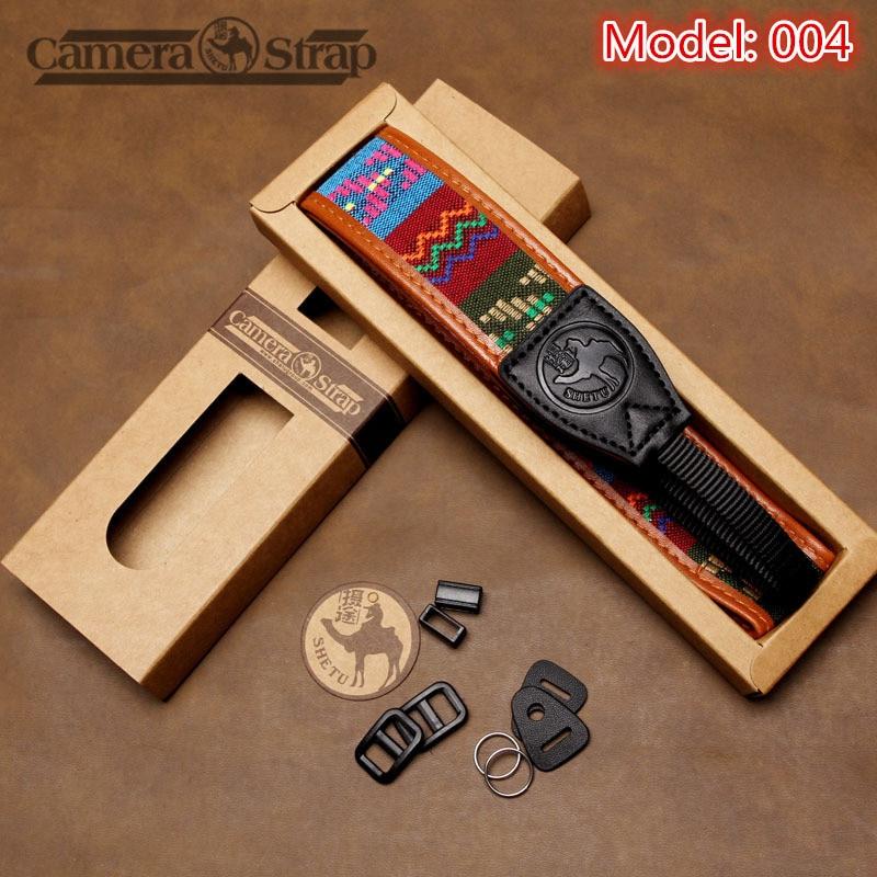 Weave Braid Handmade Ethnic Genuine Leather Dslr Camera Strap Nylon Shoulder Neck Straps Belt Grip For DSLR Nikon Canon Sony