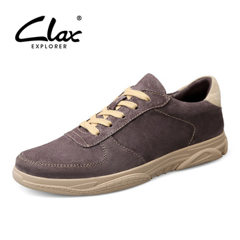 CLAX Man Leather Sneakers Suede Spring Autumn Mens Casual Shoes Fashion Male Walking Footwear