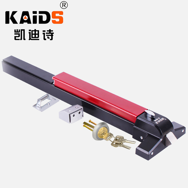 KAIDS Iron Paint Single Push Rod Lock Gate Bolt Fire Escape Doors Lock Anti Panic Device Bar Exit Lock Push Bar Fire door lock