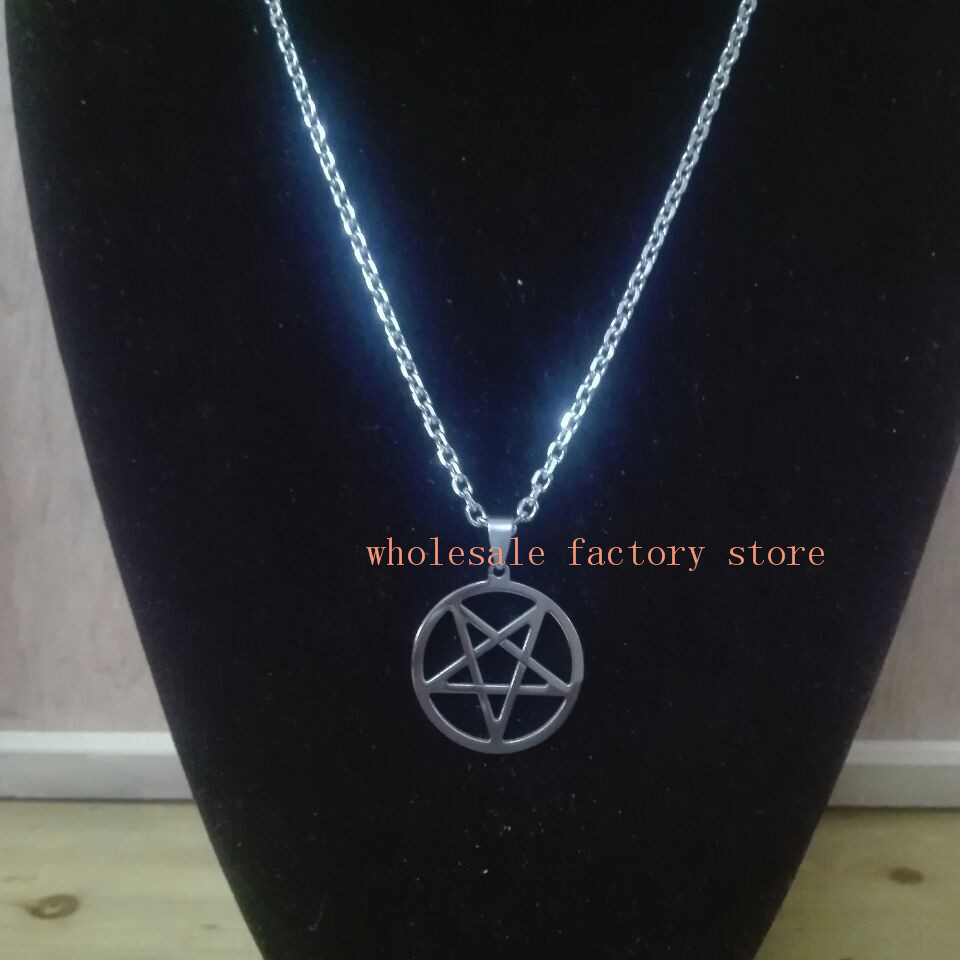 Fate love lot of 5pcs stainless steel silver pentagram satanic fate love lot of 5pcs stainless steel silver pentagram satanic symbol satan worship pendant men women necklace 24 in pendant necklaces from jewelry buycottarizona Image collections