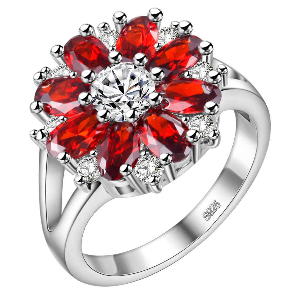 טבעת זירקון טבעת זוג תכשיטי אופנה בציפוי זהב 925 Vashiria J676 כתר קיסרי & TF מאהב צלב טבעת רומנטי