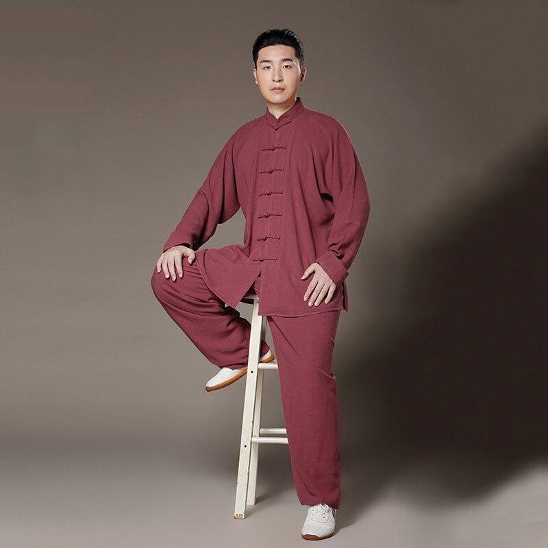 Vêtements en lin Taiji Kung Fu uniforme Arts martiaux Tai Chi costumes chinois Tang robe chemise + pantalon Tai Chi vêtements - 2