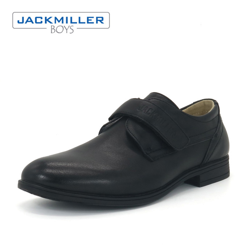 Jackmillerboys School Shoes kids Shoes For Boys hook loop Flats Dress shoes children Black loafer PU Leather shoes size 31-36