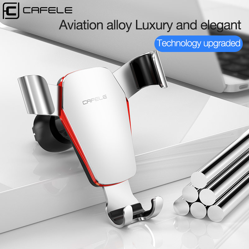 CAFELE Luxury Newest Gravity Car Phone Holder Stand For IPhone Samsung Huawei Xiaomi Aluminum Alloy Universal Car Phone Holder