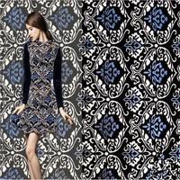SAKSIA 1Meter Brocade Jacquard Fabric Yarn Dye Metallic Material Sewing on Women Dress Coat Cloth Patchwork Zakka Flower Fabric