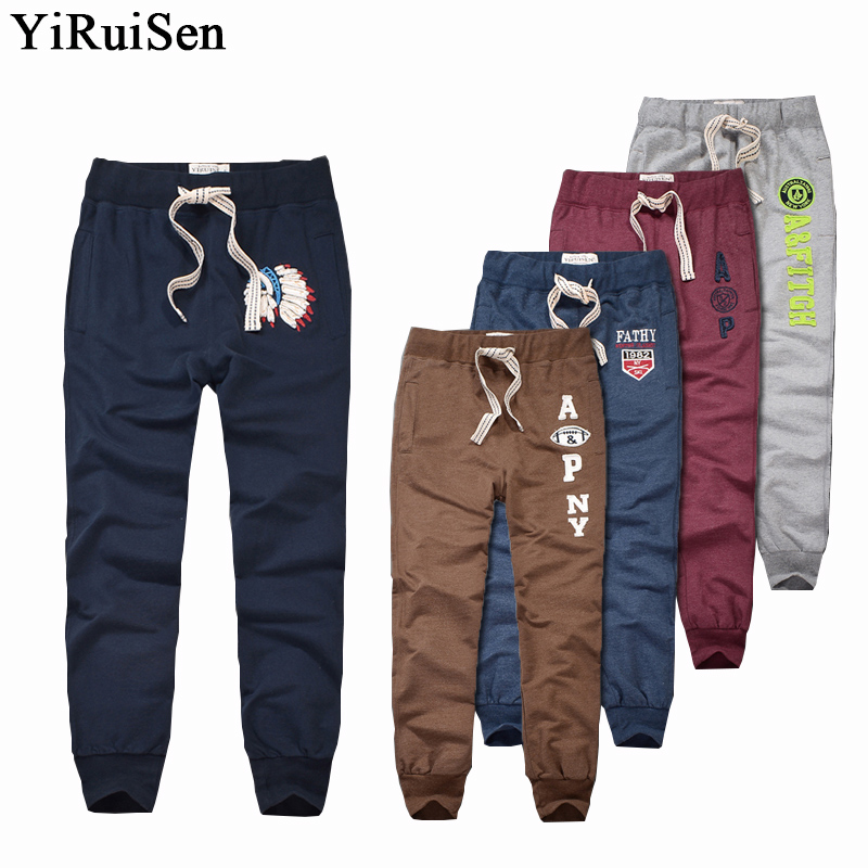 Yiruisen Brand 100 Cotton Lightweight Sweatpants Men