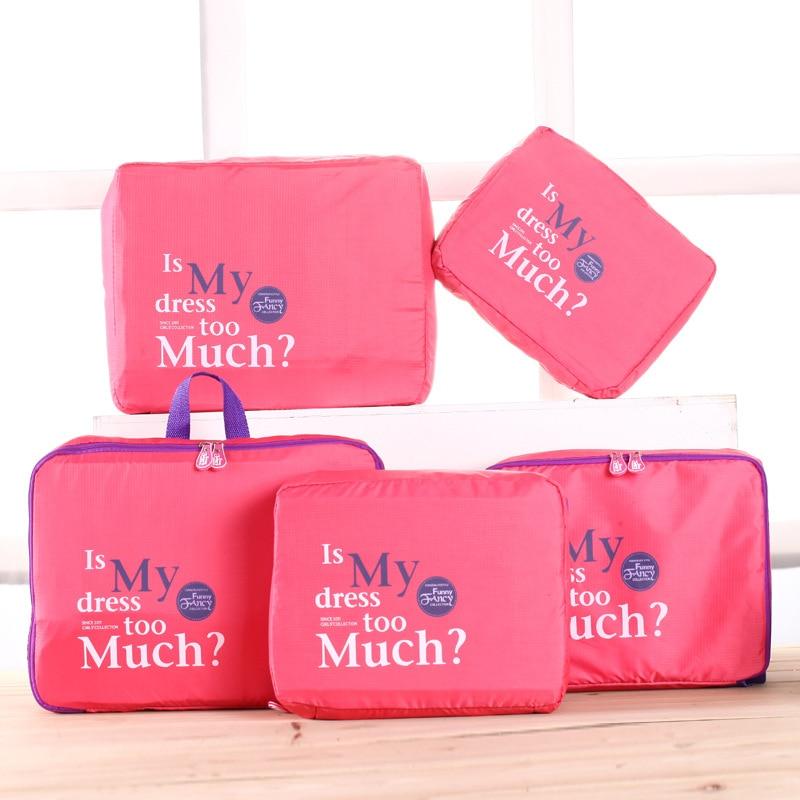 PCS Set di Marca uomini in viaggio bag in bag imballaggio cubi bagagli  vestiti storage bag organizer portable bella viaggi borse f3498e956d5