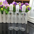 1pcs Mini Plastic Transparent 50ml/100ml Small Empty Lotion Bottle A Cover-Bottle Refillable Bottle