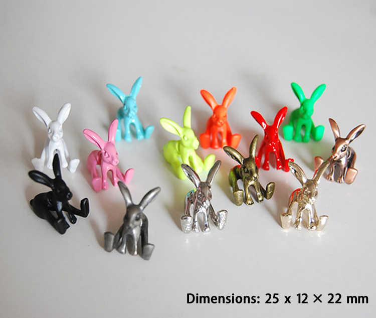 1 ชิ้นเครื่องประดับสไตล์พังค์ภาพสัตว์กระต่ายกระต่ายตุ้มหูต่างหูต่างหูสำหรับสาวเครื่องประดับ Fine ต่างหู