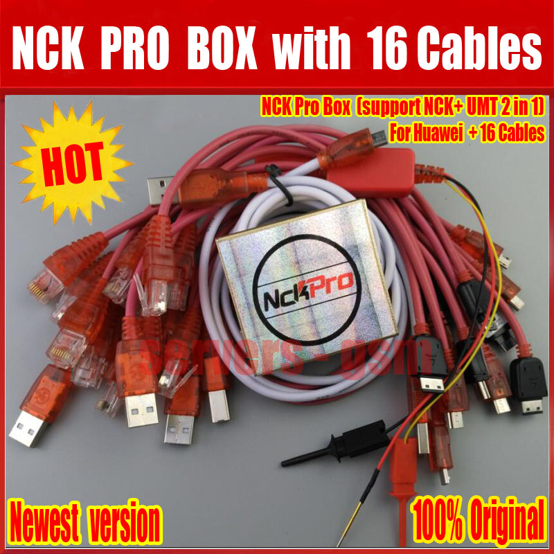 Newest Version Original NCK Pro Box NCK Pro 2 Box (support NCK+ UMT 2 In  1)For Huawei + 16 Cables