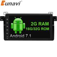 Eunavi 1 Din 9 Inch Quad Core Android 7 1 For BMW E46 M3 Rover 75