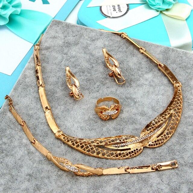 Zoshi dubai conjuntos de jóias de cristal colar pulseira brincos anel festa de casamento nigeriano moda feminina conjunto de jóias 4