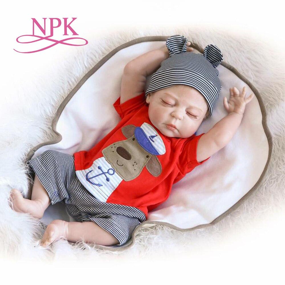 NPK 56 CM grande taille Reborn bébé garçon bebe poupée reborn plein silicone corps meilleurs enfants dormir garçon cadeau jouets brinquedos bonecas