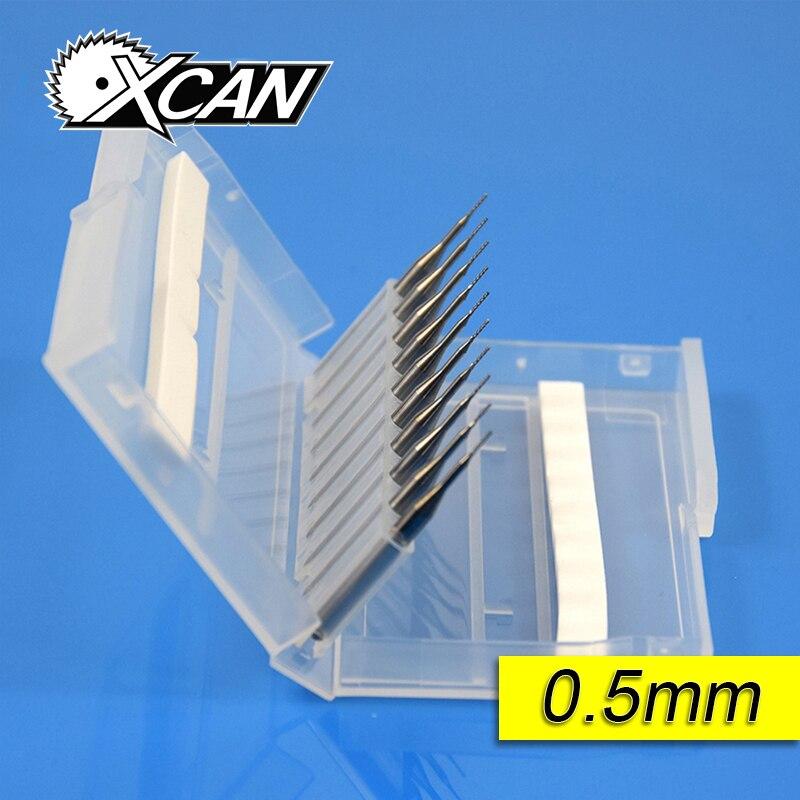 10 pz Carbide 0.5mm 0.6mm 0.7mm PCB Utensili In Metallo Duro, CNC Punte Da Taglio, Frese Millinging Kit per L'incisione Milling Machine
