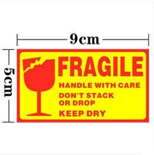 1000pcs FRAGILE HANDLE WITH CARE9x5cm Self-adhesive Shipping Label Sticker
