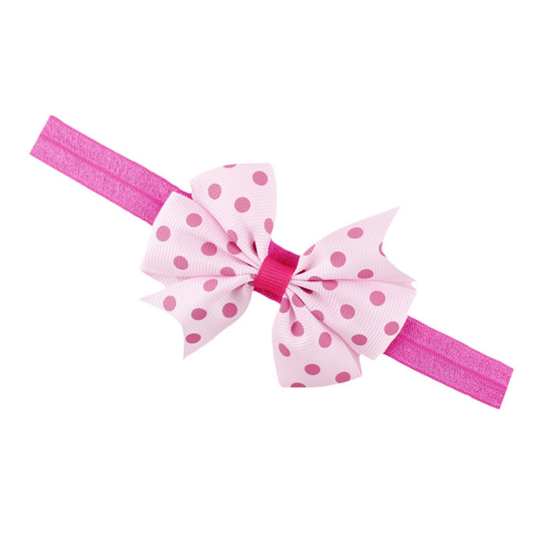 Lovely Children's Elastic Force Hair Band Princess Baby Girl Bowknot Hairband baby headband headbands Headwear cotton 3pcs lot lovely printed floral fabric bow headband striped dots knot elastic nylon hair band for girl children headwear